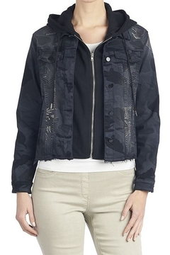 CoCo and Carmen  convertible camouflage denim jacket and hooded sweatshirt - Product List Image