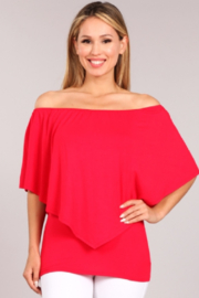 Chatoyant  Convertible Elasticized Neckline Top - Product Mini Image