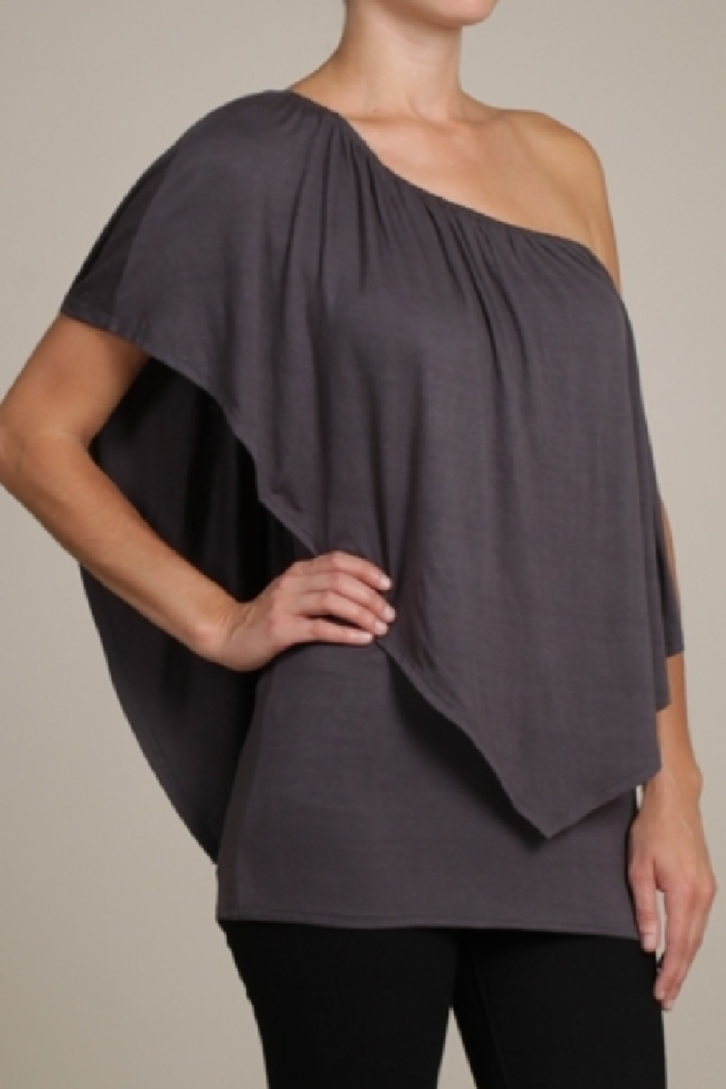 Chatoyant  Convertible Elasticized Neckline Top - Main Image