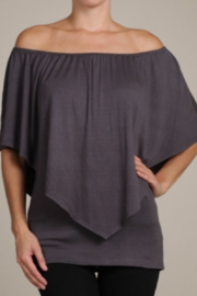 Chatoyant  Convertible Elasticized Neckline Top - Front full body