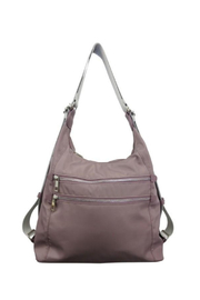 Sondra Roberts Convertible Hobo Backpack Satin Nylon - Product Mini Image