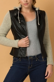 Coalition LA Convertible Vegan-Leather Jacket - Product Mini Image