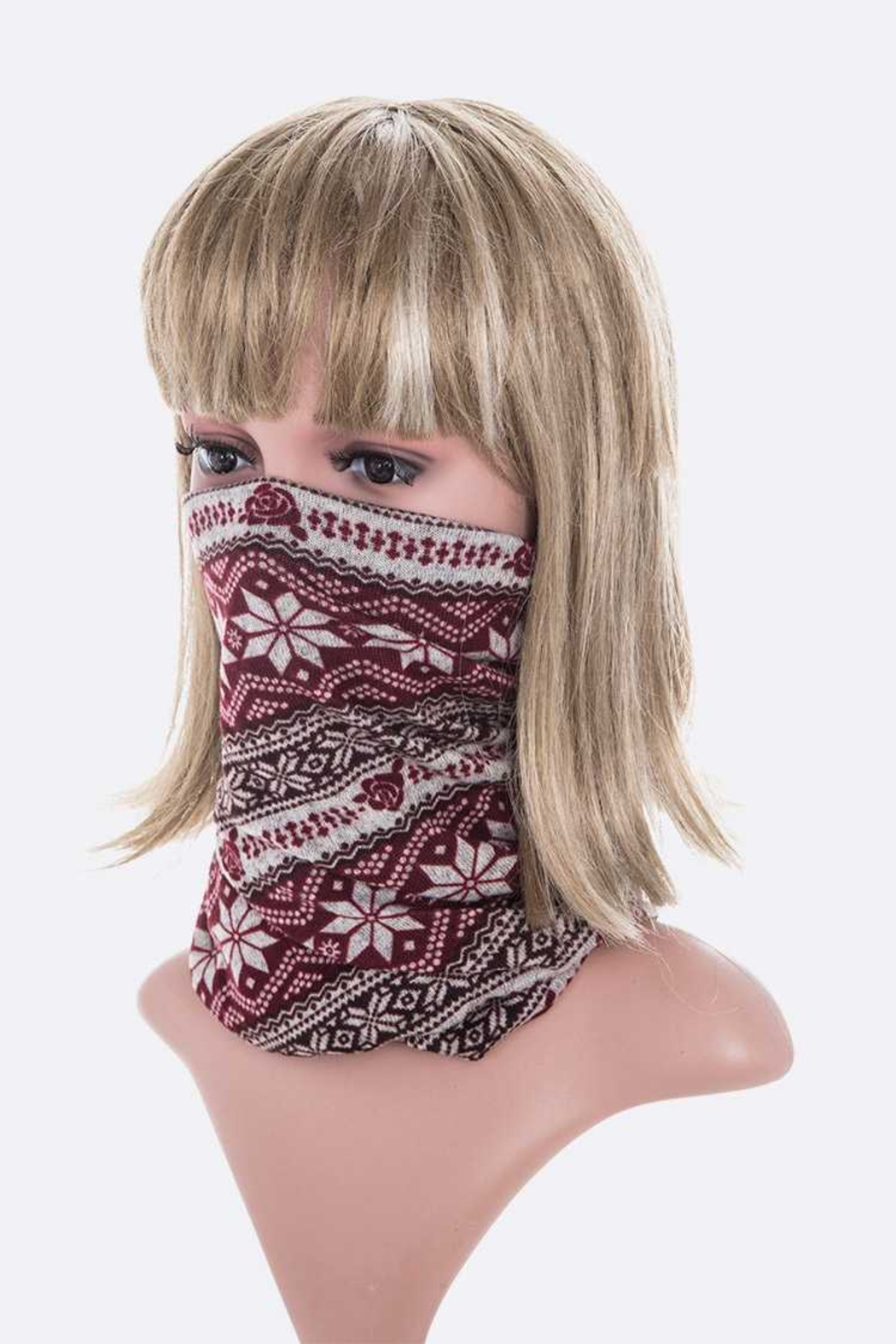 Lyn -Maree's Convertible Winter Print Hat/Scarf/Mask - Front Full Image