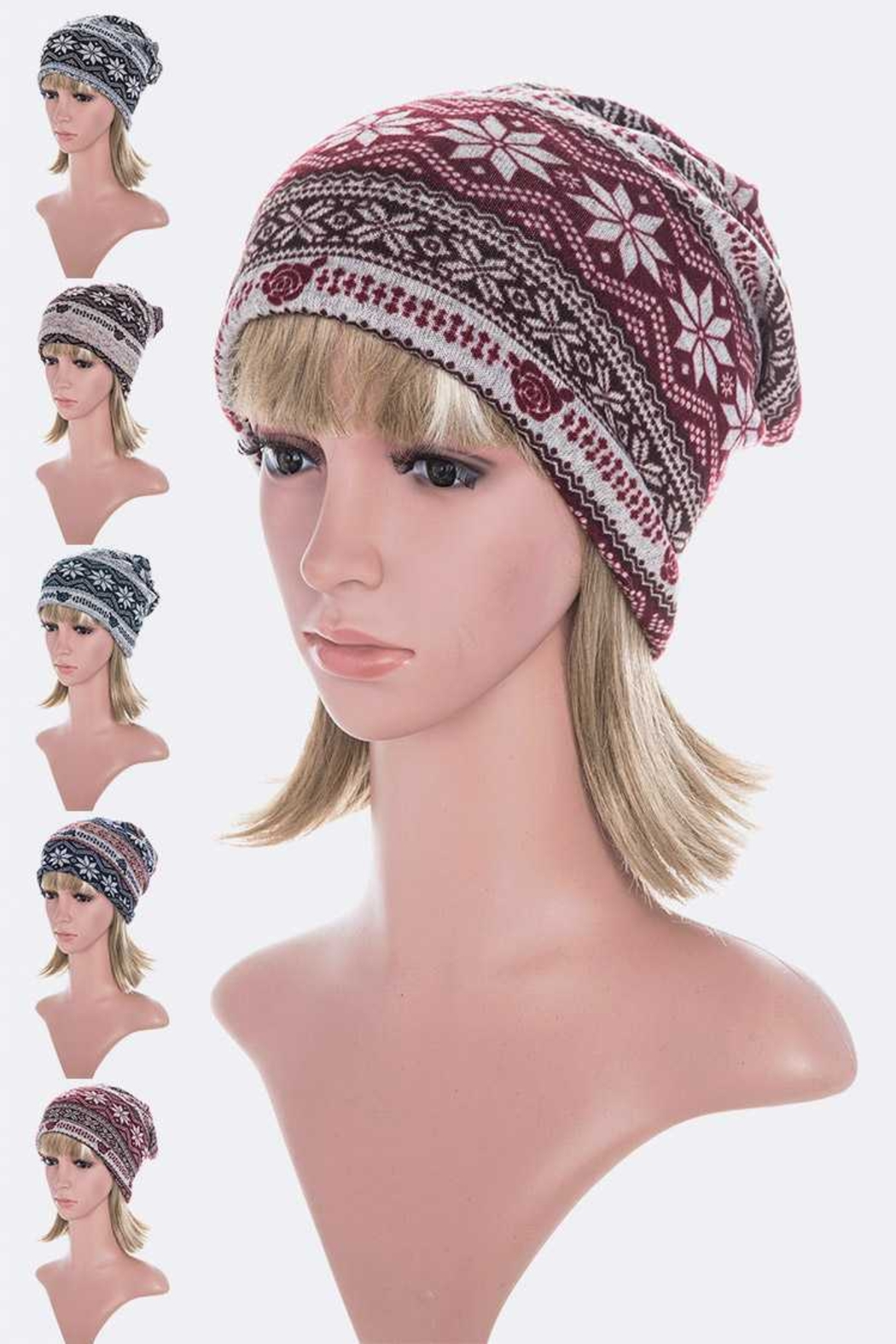 Lyn -Maree's Convertible Winter Print Hat/Scarf/Mask - Main Image