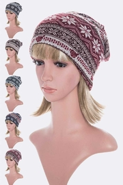 Lyn -Maree's Convertible Winter Print Hat/Scarf/Mask - Front cropped