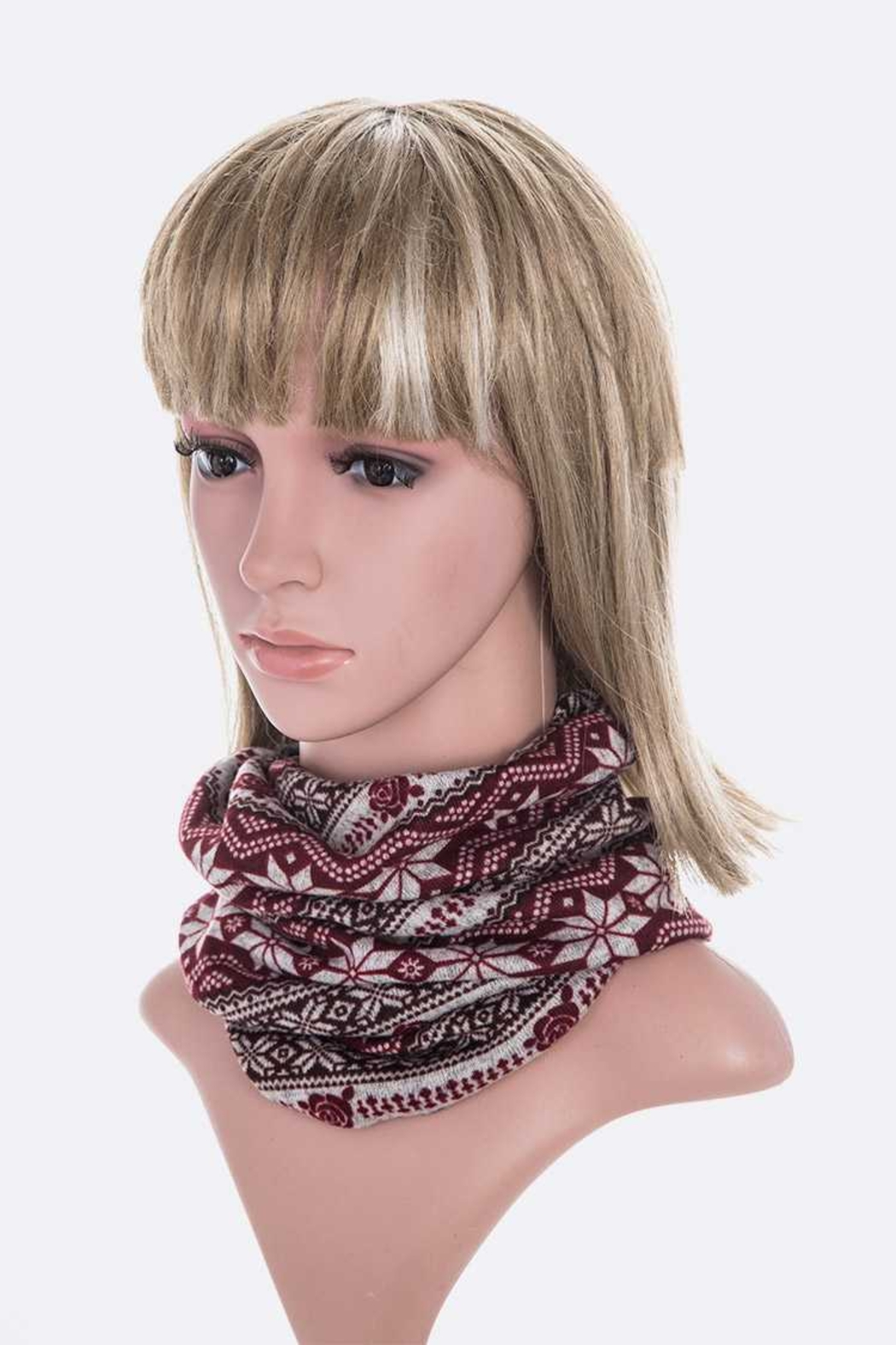 Lyn -Maree's Convertible Winter Print Hat/Scarf/Mask - Side Cropped Image