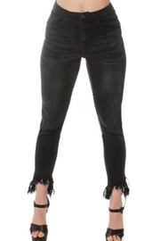 Convi Jeans by Cenia Black Fringed Jeans - Side cropped