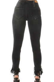 Convi Jeans by Cenia Black Fringed Jeans - Product Mini Image