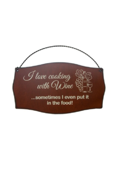 Rustic Ironwerks Cook with Wine Sign - Alternate List Image