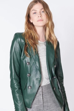 Veronica Beard Cooke Leather Jacket - Product List Image