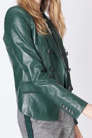 Veronica Beard Cooke Leather Jacket - Front full body