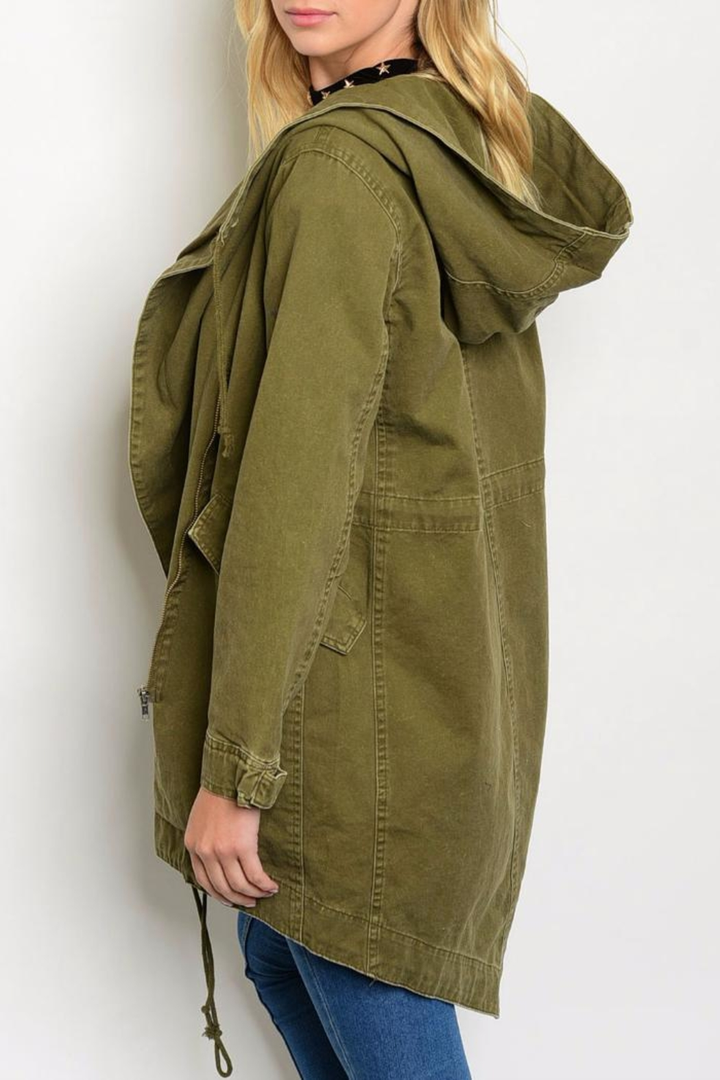 Cookie's Clothing Co  Army Green Jacket - Front Full Image