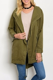 Cookie's Clothing Co  Army Green Jacket - Front cropped