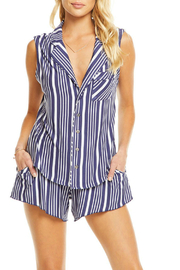 Chaser Cool Jersey Shirttail Stripe Top - Product Mini Image