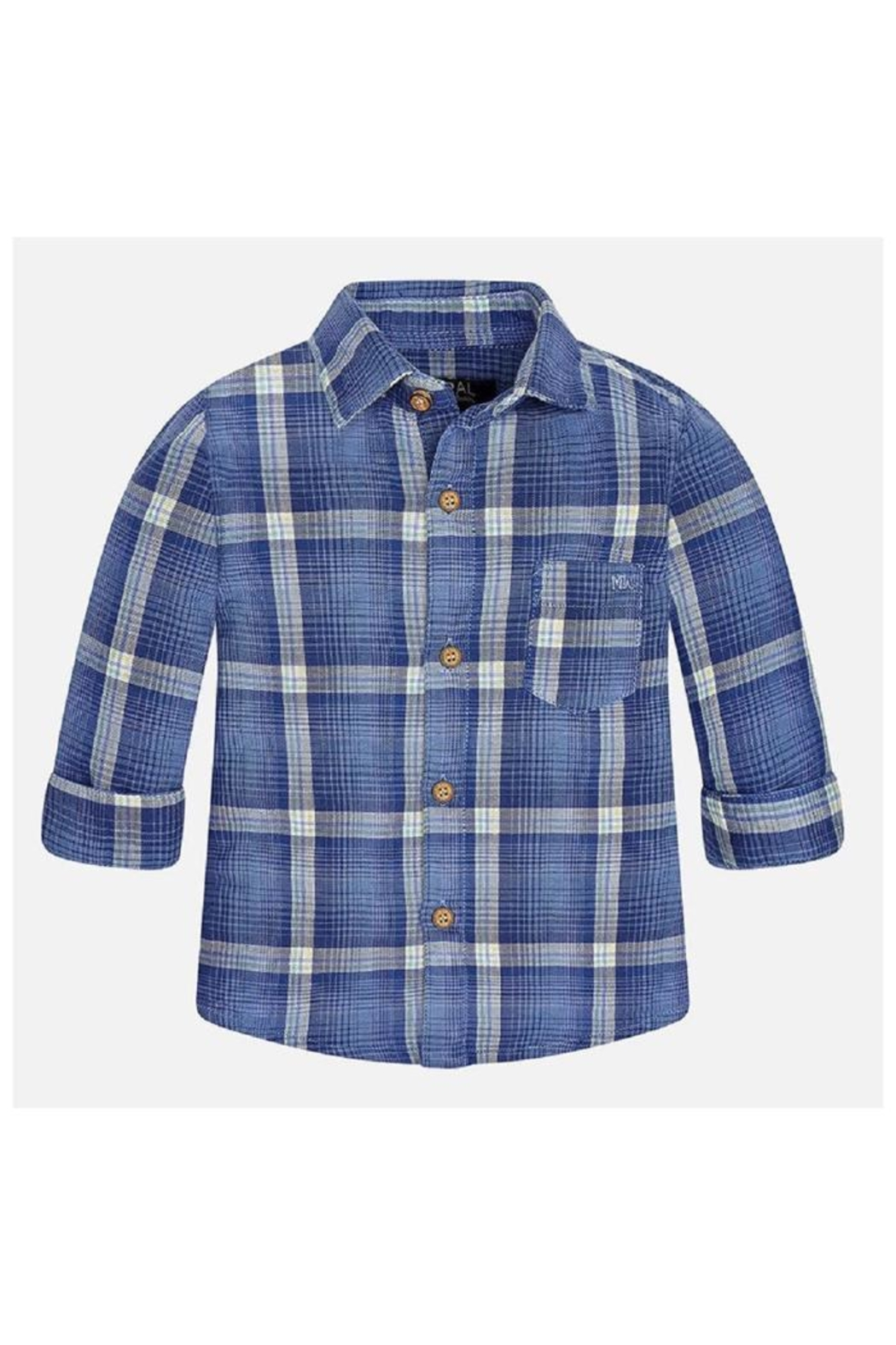 Mayoral Cool Plaid Shirt - Front Cropped Image