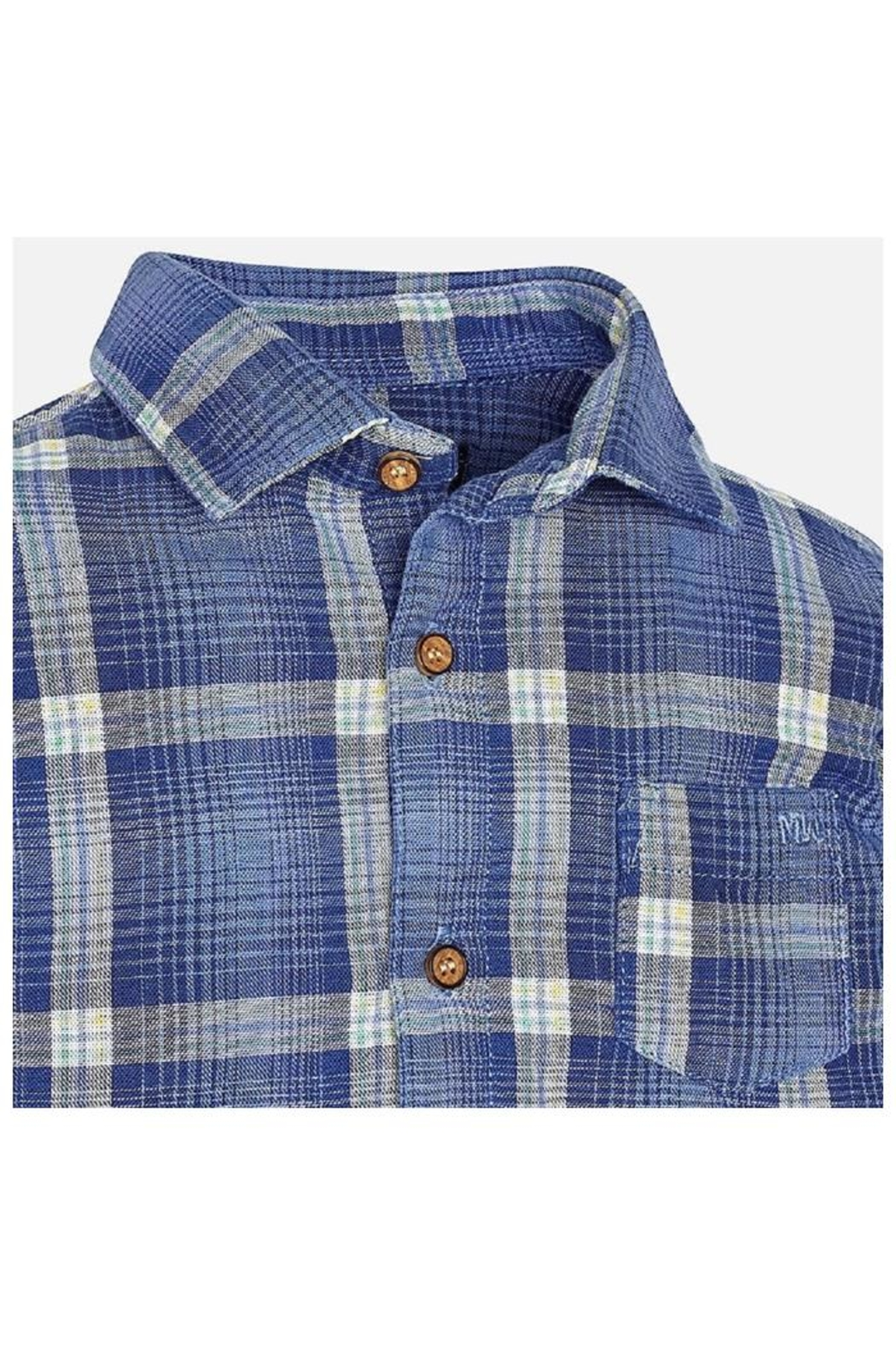 Mayoral Cool Plaid Shirt - Front Full Image