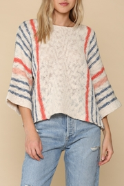 Blank Paige Cool Red-White-Blue Sweater - Product Mini Image