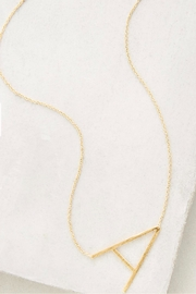 Cool and Interesting Gold Initial Necklace - Front cropped