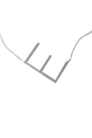 Cool and Interesting Initial Sideways Necklace - Other