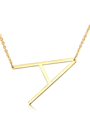 Cool and Interesting Initial Sideways Necklace - Front full body