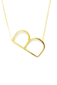 Cool and Interesting Initial Sideways Necklace - Alternate List Image