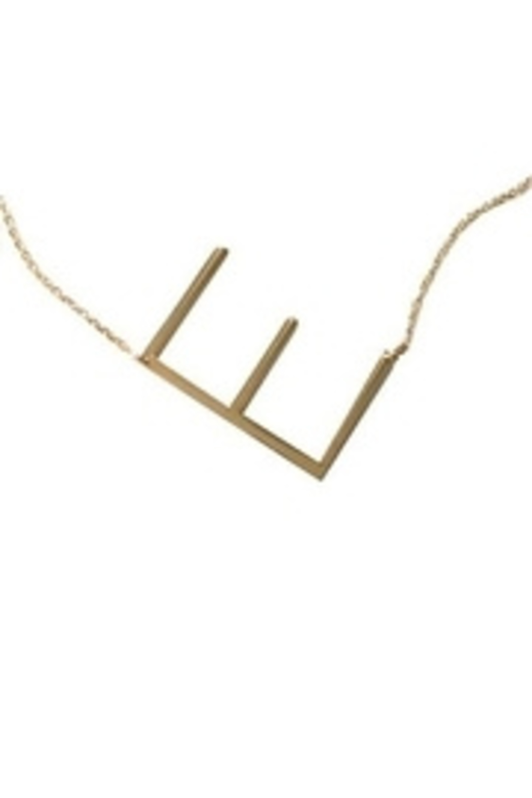 Cool and Interesting Initial Sideways Necklace - Main Image