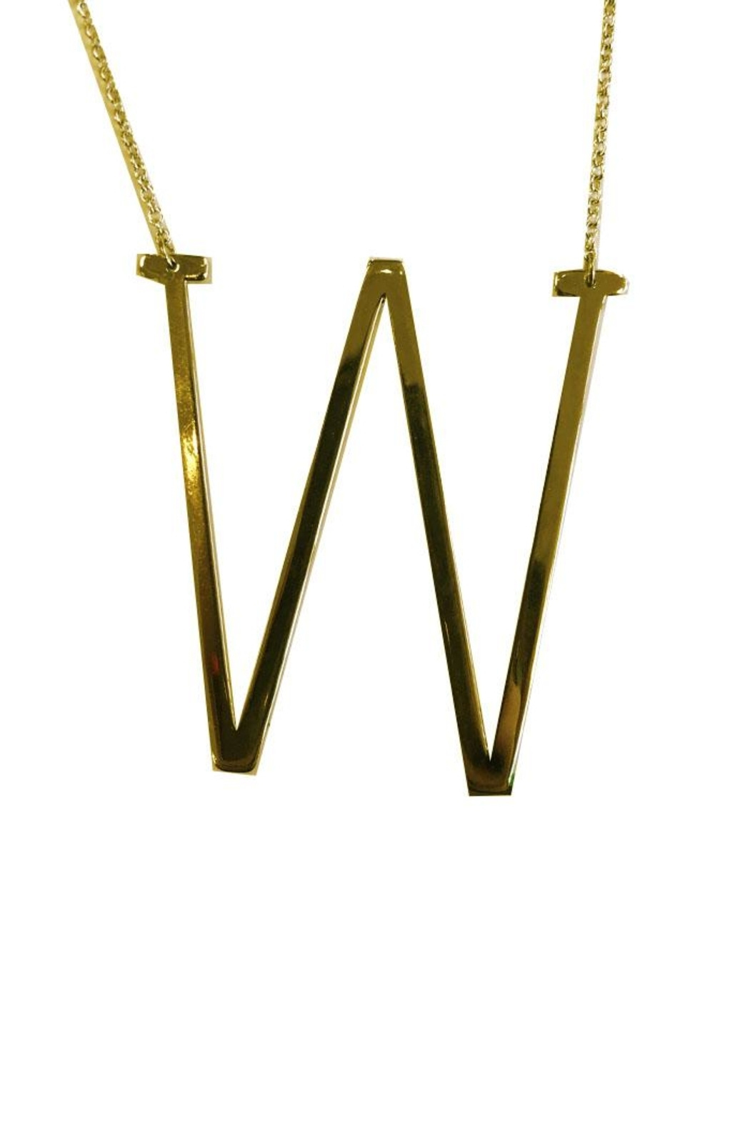 Cool and Interesting Initial Sideways Necklace - Front Cropped Image