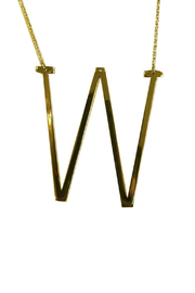 Cool and Interesting Initial Sideways Necklace - Front cropped