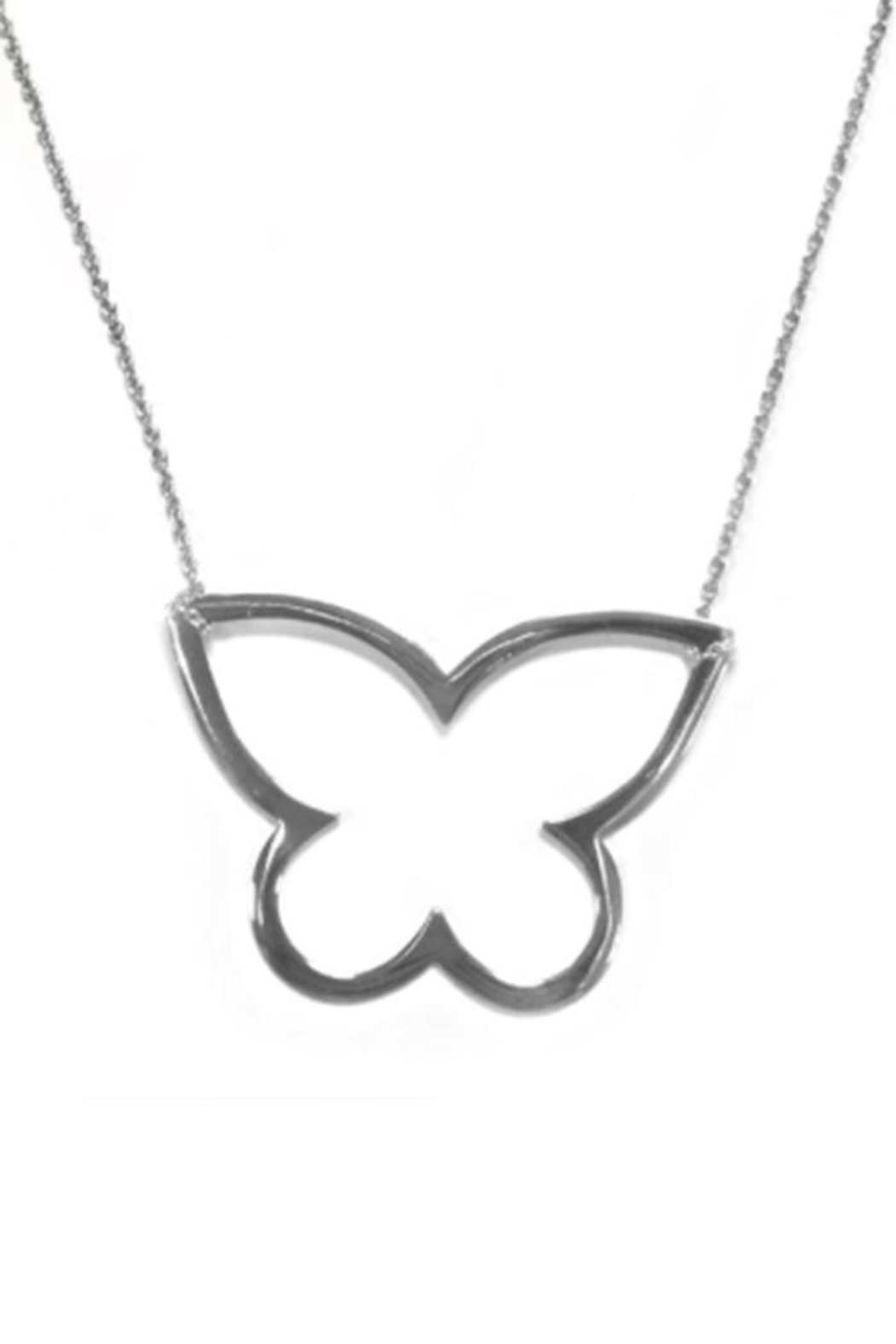 Cool and Interesting Open Butterfly Necklace - Front Cropped Image