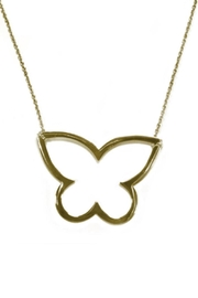 Cool and Interesting Open Butterfly Necklace - Front cropped