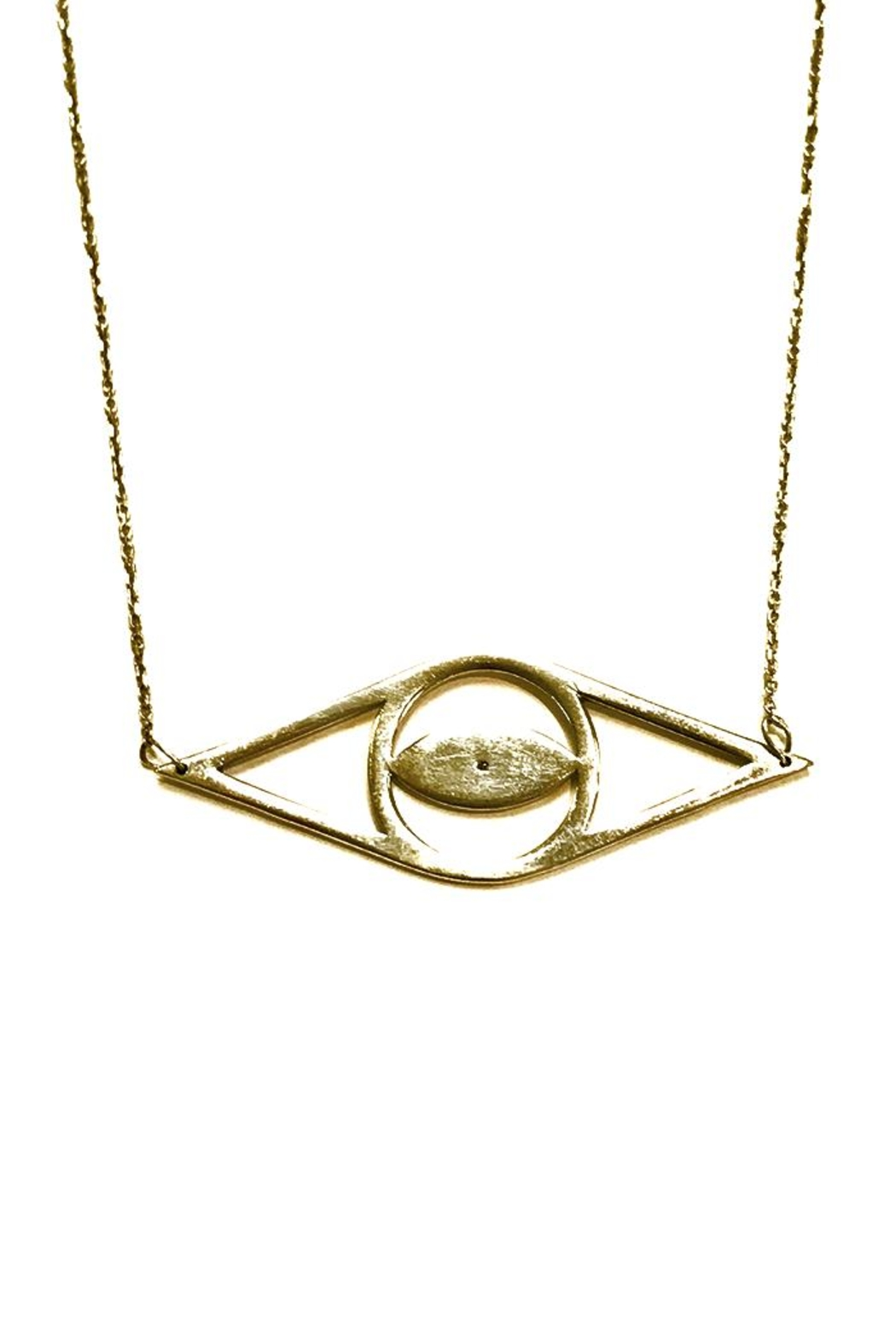 Cool and Interesting Open Evil-Eye Necklace - Front Full Image