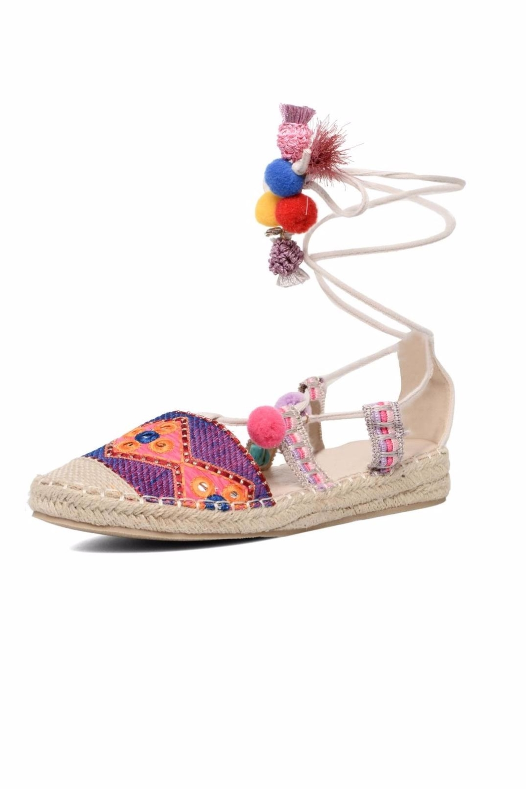 fashionable online cheap sale pay with visa COOLWAY Bamburi Multi-Coloured Canvas Sandals Jd5pITbxhz