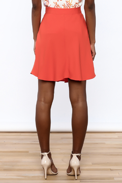 Cooper & Ella Orange High Waist Skirt - Alternate List Image