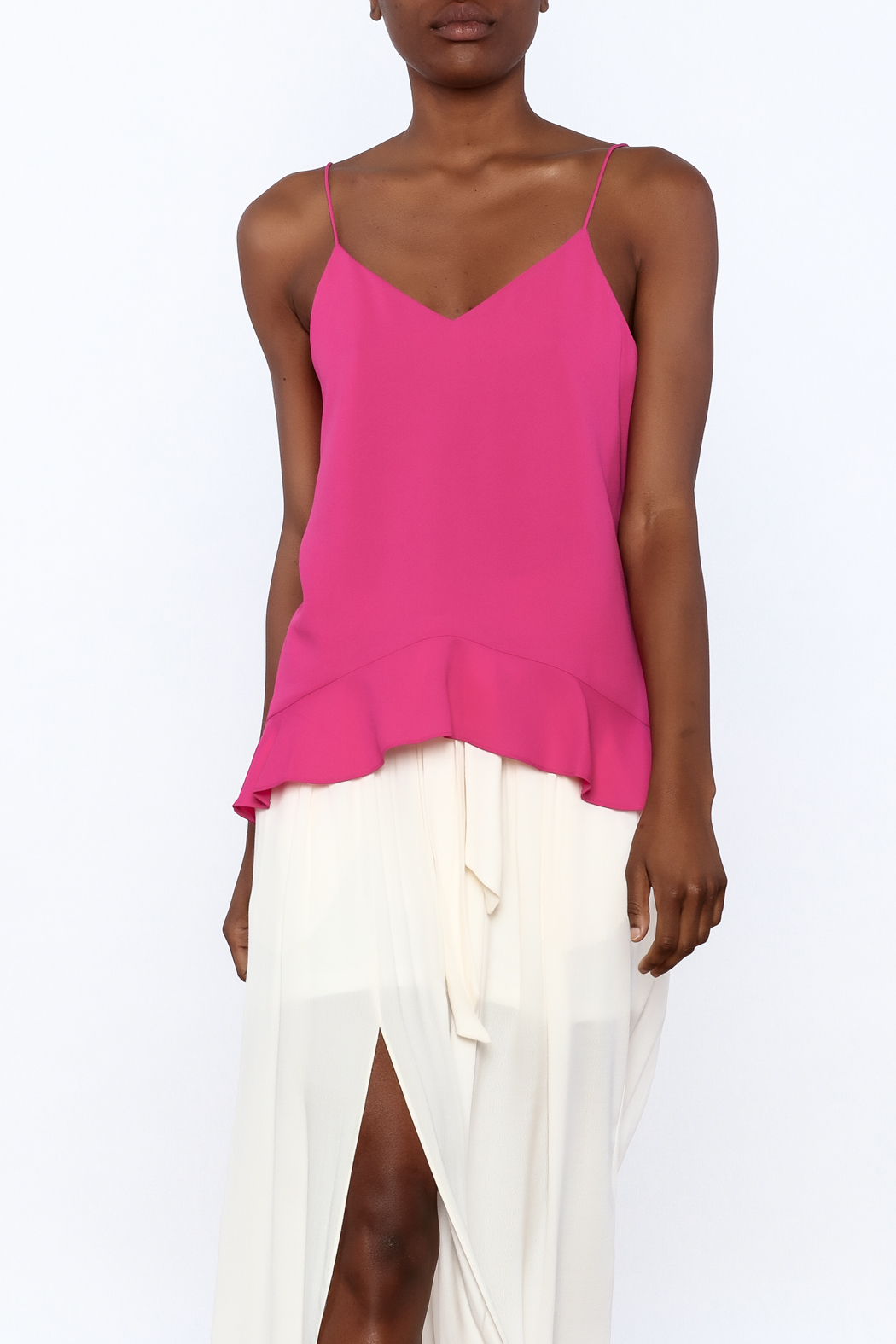 Cooper & Ella Hot Pink Sleeveless Top - Front Cropped Image