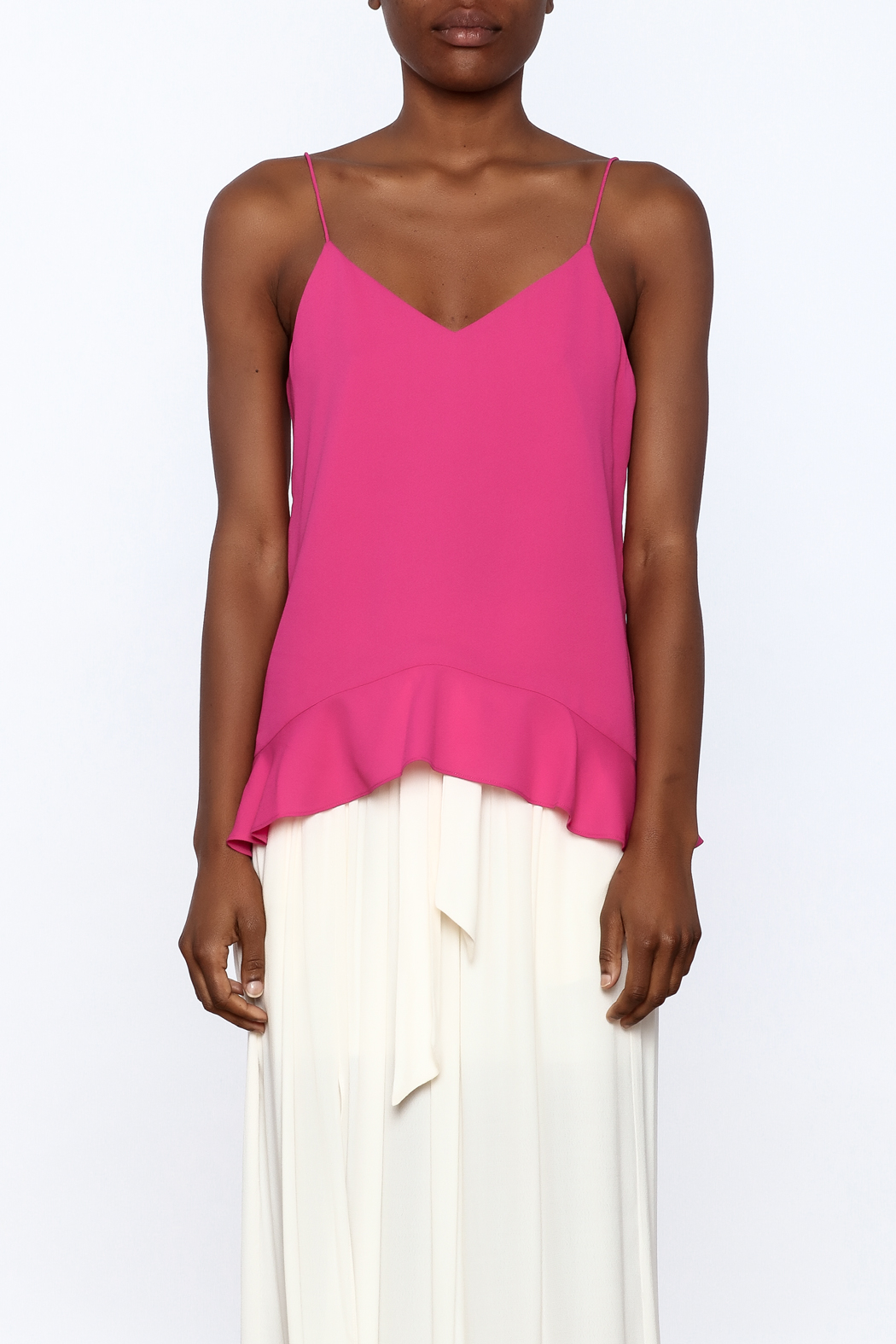 Cooper & Ella Hot Pink Sleeveless Top - Side Cropped Image