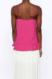 Cooper & Ella Hot Pink Sleeveless Top - Back cropped