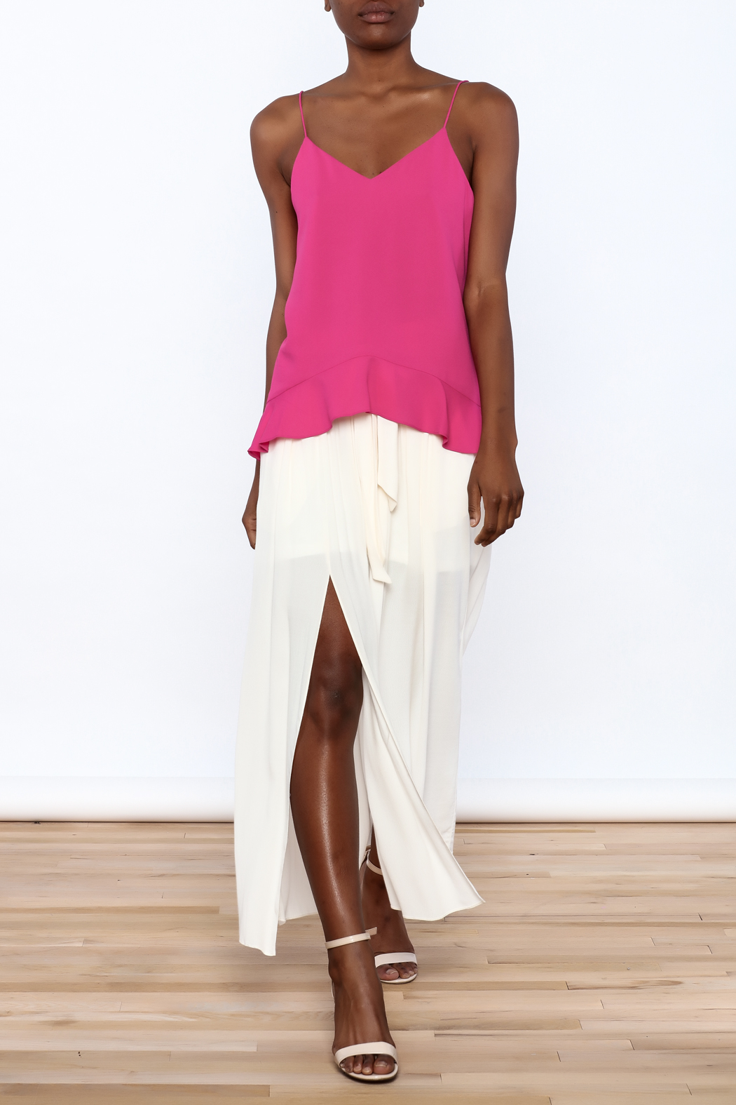 Cooper & Ella Hot Pink Sleeveless Top - Front Full Image