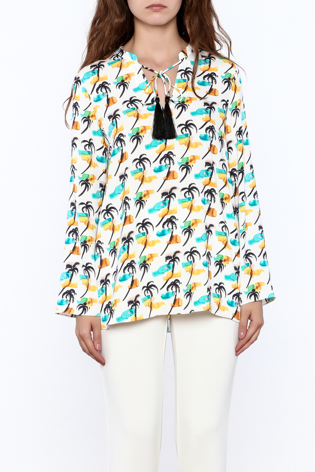Cooper & Ella Palm Tree Blouse - Side Cropped Image