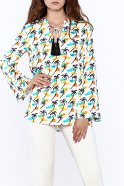 Cooper & Ella Palm Tree Blouse - Front cropped