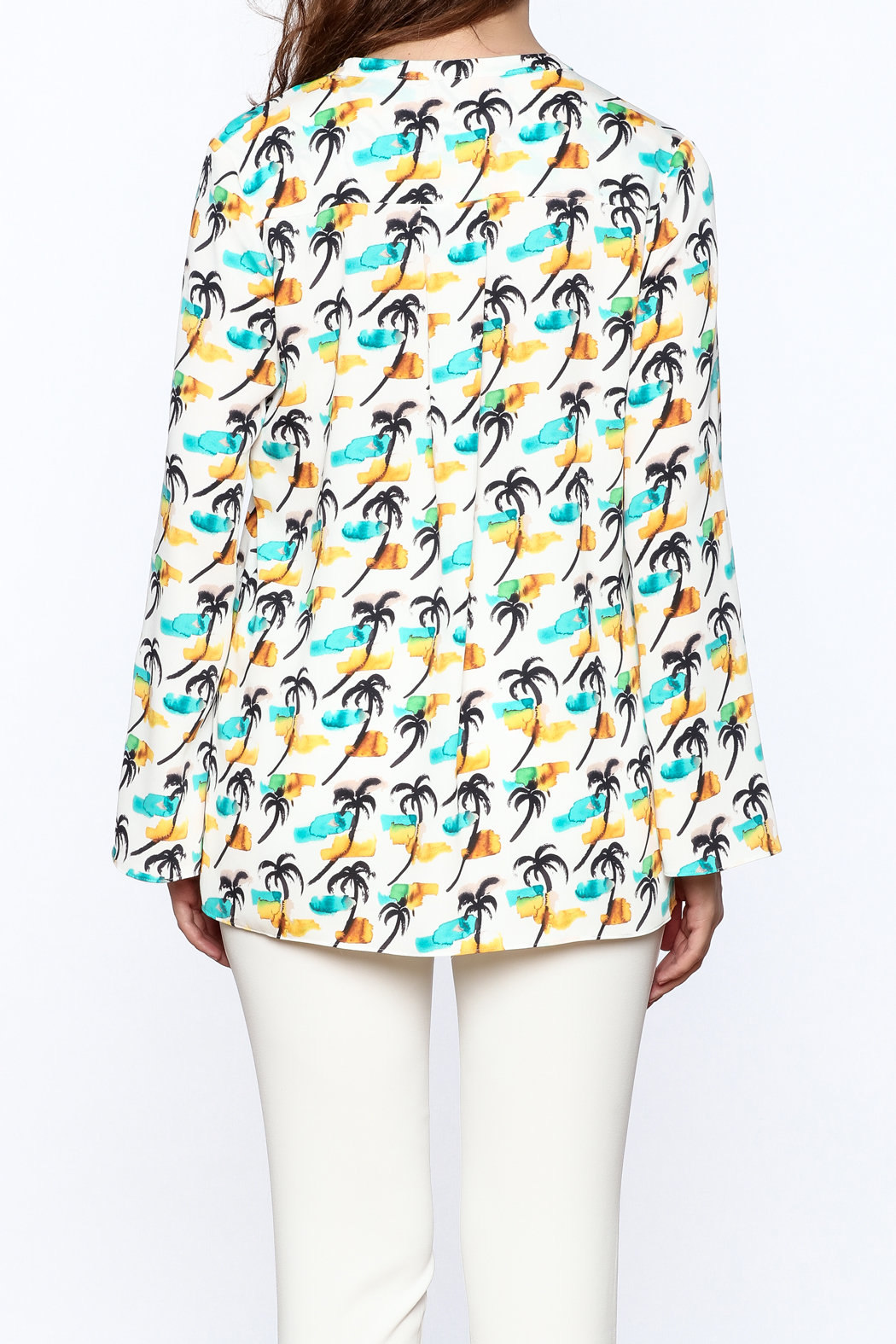 Cooper & Ella Palm Tree Blouse - Back Cropped Image