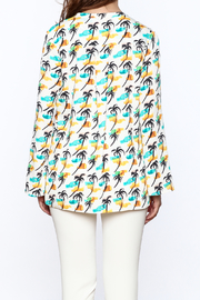Cooper & Ella Palm Tree Blouse - Back cropped