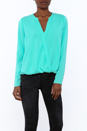 Cooper & Ella Turquoise Long Sleeve Blouse - Product Mini Image