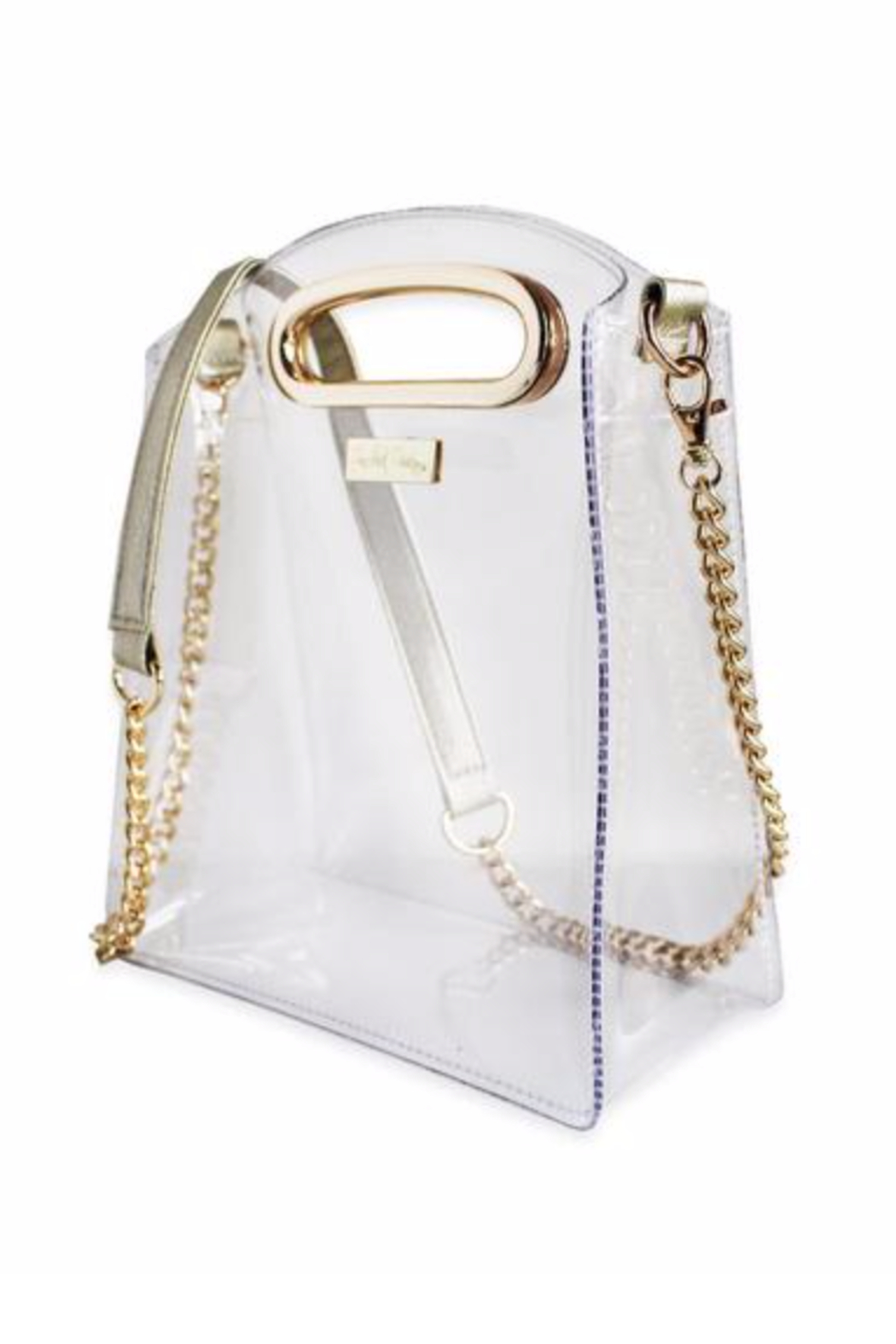Packed Party Cooper Croossbody Gold Clear Purse - Front Full Image