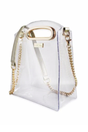 Packed Party Cooper Croossbody Gold Clear Purse - Front full body