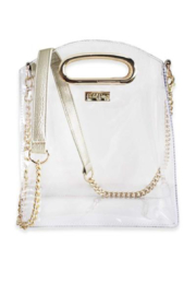 Packed Party Cooper Croossbody Gold Clear Purse - Product Mini Image