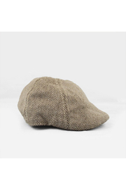 The Blueberry Hill Cooper Tweed Driving Cap - Front cropped