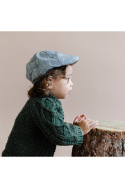 The Blueberry Hill Cooper Tweed Driving Cap - Front full body