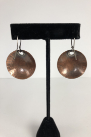 Toto Collection Copper Disk Earrings - Side cropped