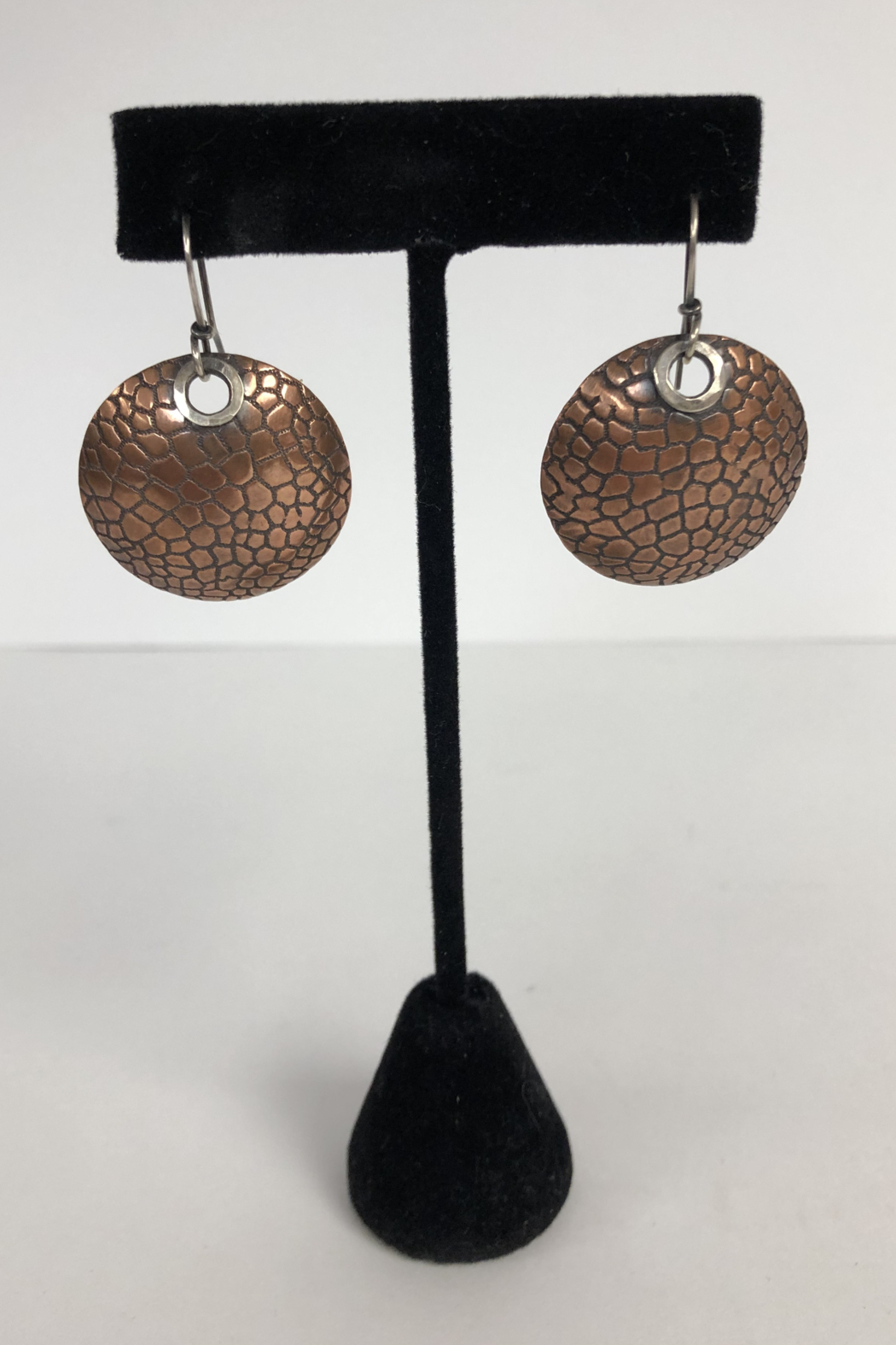 Toto Collection Copper Disk Earrings - Main Image