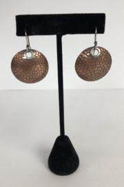 Toto Collection Copper Disk Earrings - Front cropped